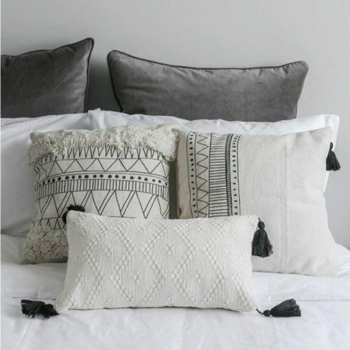 1 510x510 - cushions - Minimalist Tasseled Cotton Cushion Cover