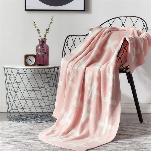 1020 785606 510x510 - throws, sale - Lovely Cross Printed Supersoft Knitted Cotton Throw Blanket