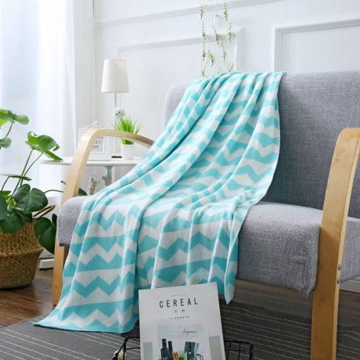 1104 c394b4 510x510 - throws, sale - Kansas Geometric Cotton Throw Blanket