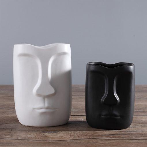 1498 7270d5 510x510 - decor, accessories - Modern Minimalistic Abstract Head Shaped Ceramic Vase