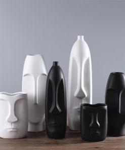 1498 72fec2 247x296 - accessories, decor - Modern Minimalistic Abstract Head Shaped Ceramic Vase