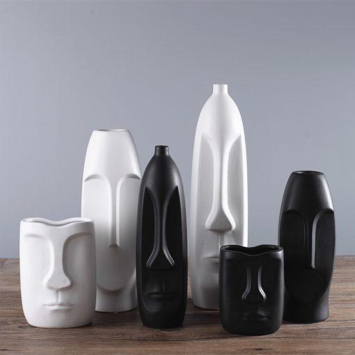 1498 72fec2 510x510 - decor, accessories - Modern Minimalistic Abstract Head Shaped Ceramic Vase