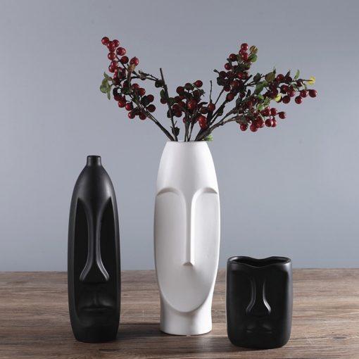 1498 bd0785 510x510 - decor, accessories - Modern Minimalistic Abstract Head Shaped Ceramic Vase
