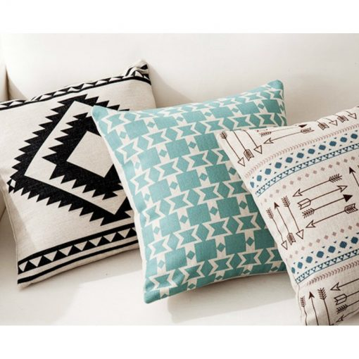 164 02944b 510x510 - cushions - Creative Decorative Geometrically Patterned Cotton Cushion Cover