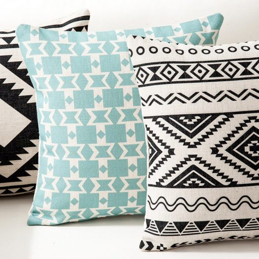 164 93343a 510x510 - cushions - Creative Decorative Geometrically Patterned Cotton Cushion Cover