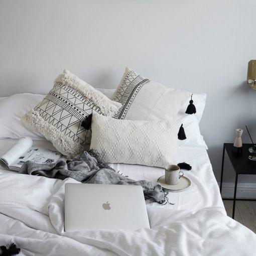 198 820643 510x510 - cushions - Minimalist Tasseled Cotton Cushion Cover
