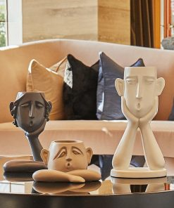 627 3724d0 247x296 - sale, collectibles - Modern Decorative Abstract Head Shaped Figurines Set