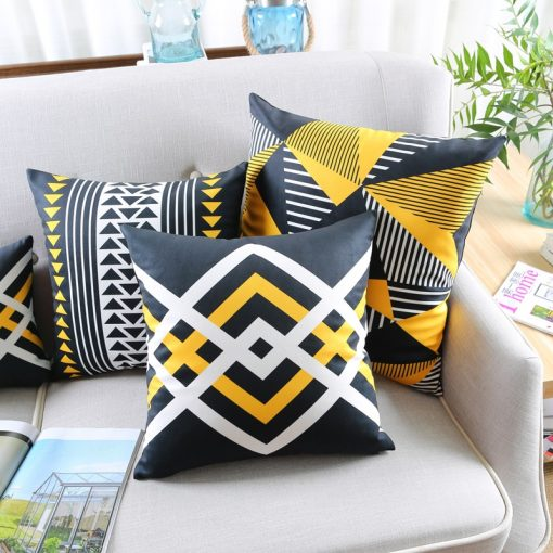 73 70c992 510x510 - cushions - Cute Decorative Geometrically Patterned Soft Velvet Cushion Cover