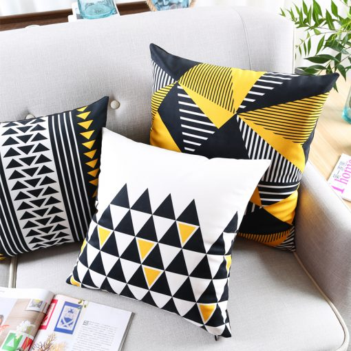 73 973a99 510x510 - cushions - Cute Decorative Geometrically Patterned Soft Velvet Cushion Cover