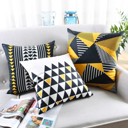 73 aa5842 510x510 - cushions - Cute Decorative Geometrically Patterned Soft Velvet Cushion Cover