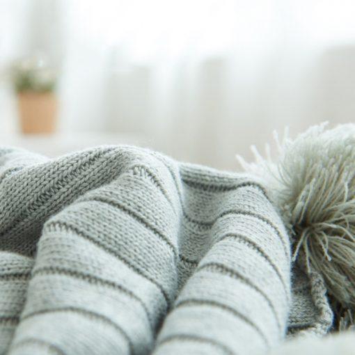988 f5c885 510x510 - throws, sale - Pom Pom Cotton Throw Blanket