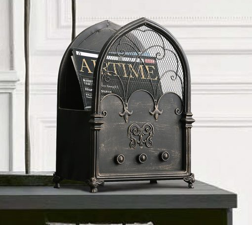 3967 ycfjpq 510x457 - decor, collectibles - The Amara Collection English Design Newspaper Holder