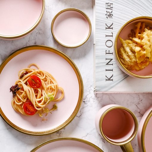 3999 s7zsmf 510x510 - tabletop-and-bar, sale, dinnerware - The Ophelia Collection Matte Pink Ceramic Dinnerware