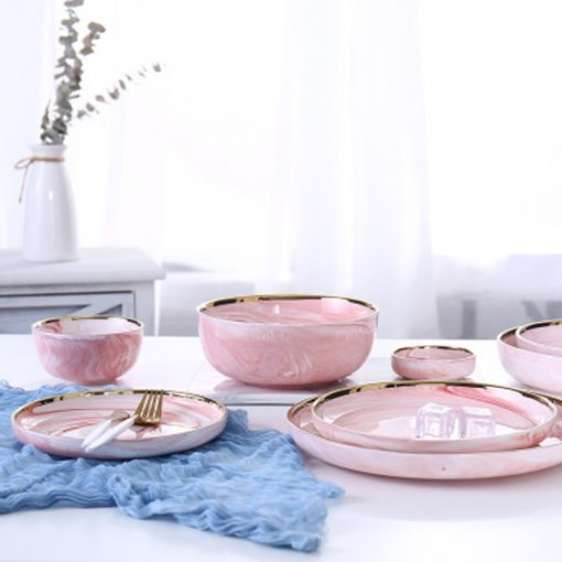 4013 mi7vks 510x510 - tabletop-and-bar, dinnerware - Penelope Collection Pink Marble Dinnerware