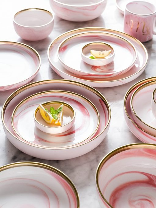 4013 pc1foy 510x680 - tabletop-and-bar, dinnerware - Penelope Collection Pink Marble Dinnerware