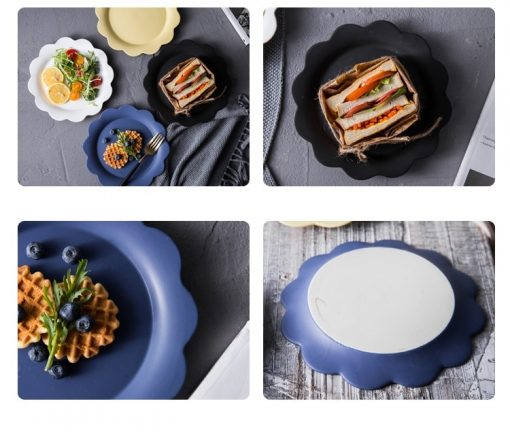 4287 gpjxpt 510x433 - tabletop-and-bar, dinnerware - Penelope Collection Flower Shaped Ceramic Plates