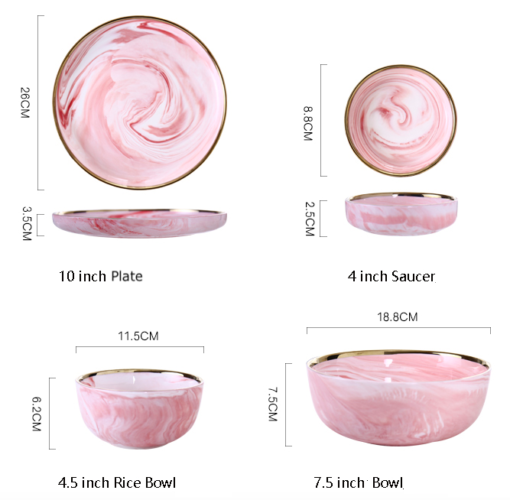 Screen Shot 2019 08 29 at 6.07.24 PM 510x500 - tabletop-and-bar, dinnerware - Penelope Collection Pink Marble Dinnerware