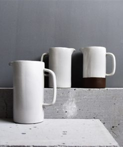 4530 kvtefs 247x296 - tabletop-and-bar, dinnerware - The Ash Collection White Ceramic Pitchers