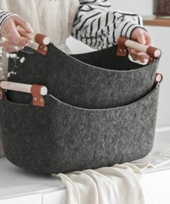 4612 52yiwg 247x296 - trays-and-storage, tabletop-and-bar - The Ash Collection Felt Cloth Storage Baskets