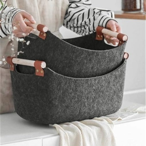 4612 52yiwg 510x510 - trays-and-storage, tabletop-and-bar - The Ash Collection Felt Cloth Storage Baskets