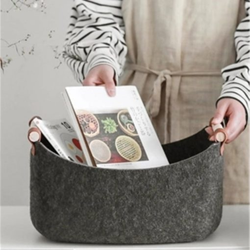 4612 jlmyag 510x510 - trays-and-storage, tabletop-and-bar - The Ash Collection Felt Cloth Storage Baskets