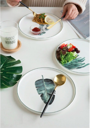 Screen Shot 2019 01 14 at 12.29.11 AM - tabletop-and-bar, dinnerware - The Ophelia Collection Botanical Plates