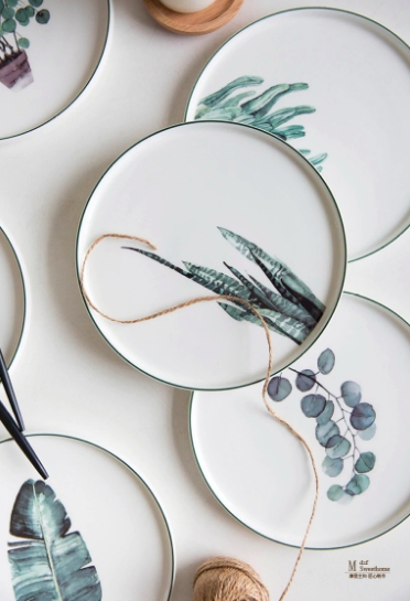 Screen Shot 2019 01 14 at 12.29.40 AM - tabletop-and-bar, dinnerware - The Ophelia Collection Botanical Plates