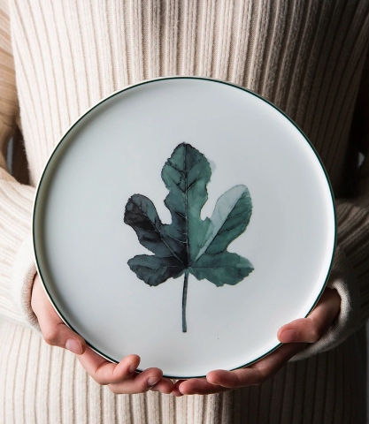 Screen Shot 2019 01 14 at 12.30.51 AM - tabletop-and-bar, dinnerware - The Ophelia Collection Botanical Plates
