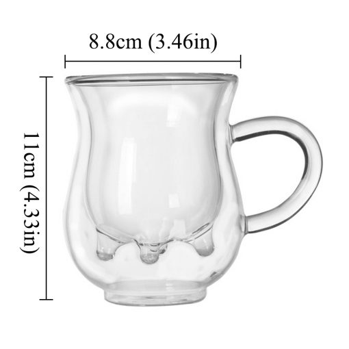 """5612 a7c7a0a37884b2ab31ea046a3bfd4a45 510x510 - tabletop-and-bar, drinkware - """"Moo - Moo"""" Double Wall Glass Tea Cup with Bamboo Lid and Spoon"""