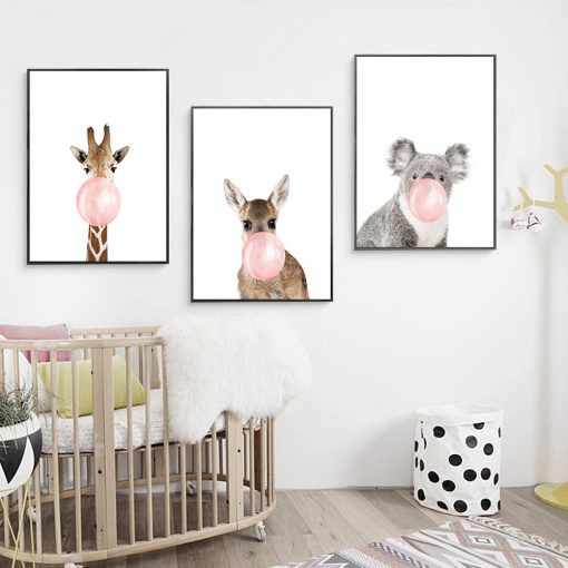 5775 44b6cd55307ca5a4937c7fe28ebd6fc2 510x510 - wall-decor, decor, best-sellers - Chewing Gum Animals Canvas