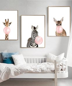 5775 d53f62dd55baca4e734b435d94af0656 247x296 - best-sellers, wall-decor, decor - Chewing Gum Animals Canvas
