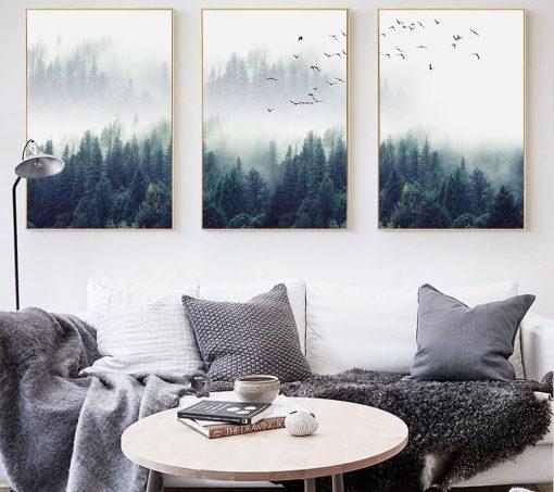 5885 402ab369e513ac8944c6583e3fa2177c 510x453 - wall-decor, decor - Nordic Forest in Fog Wall Art