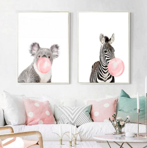 Screen Shot 2019 04 12 at 5.38.02 PM 510x512 - wall-decor, decor, best-sellers - Chewing Gum Animals Canvas