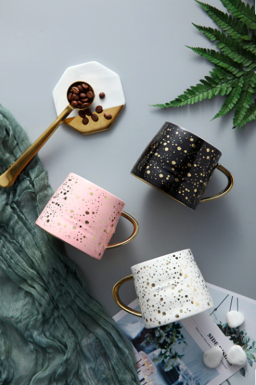 Screen Shot 2019 04 14 at 10.41.19 PM - tabletop-and-bar, drinkware - Starry Sky Patterned Ceramic Coffee Mugs