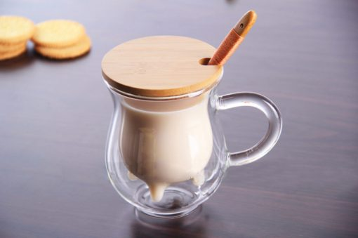 """Screen Shot 2019 04 14 at 10.51.26 PM 510x339 - tabletop-and-bar, drinkware - """"Moo - Moo"""" Double Wall Glass Tea Cup with Bamboo Lid and Spoon"""
