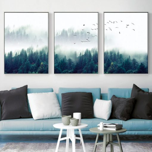 Screen Shot 2019 04 14 at 9.46.19 PM 510x510 - wall-decor, decor - Nordic Forest in Fog Wall Art