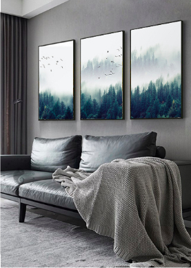 Screen Shot 2019 04 14 at 9.47.31 PM - wall-decor, decor - Nordic Forest in Fog Wall Art