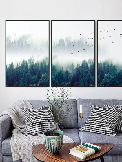 Screen Shot 2019 04 14 at 9.48.19 PM - wall-decor, decor - Nordic Forest in Fog Wall Art