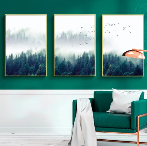 Screen Shot 2019 04 14 at 9.50.05 PM 510x509 - wall-decor, decor - Nordic Forest in Fog Wall Art