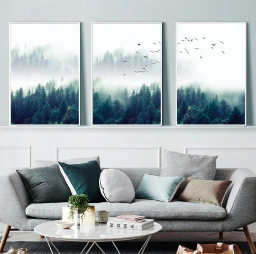 Screen Shot 2019 04 14 at 9.50.33 PM 510x506 - wall-decor, decor - Nordic Forest in Fog Wall Art