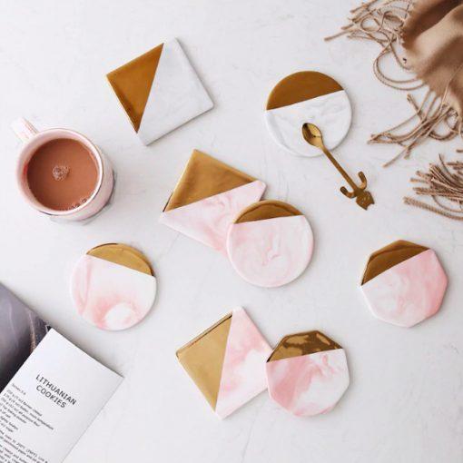 Screen Shot 2019 04 24 at 1.18.08 PM 510x510 - tabletop-and-bar, drinkware - Rose Marble Ceramic Coaster