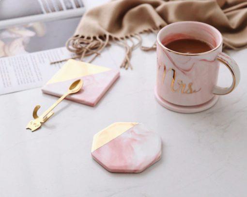 Screen Shot 2019 04 24 at 1.18.35 PM 510x406 - tabletop-and-bar, drinkware - Rose Marble Ceramic Coaster