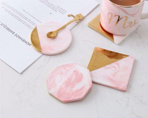 Screen Shot 2019 04 24 at 1.19.12 PM 510x408 - tabletop-and-bar, drinkware - Rose Marble Ceramic Coaster