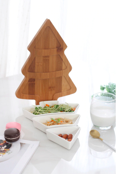 Screen Shot 2019 04 24 at 6.40.40 PM - trays-and-storage, tabletop-and-bar, dinnerware - Christmas Tree Serving Plate