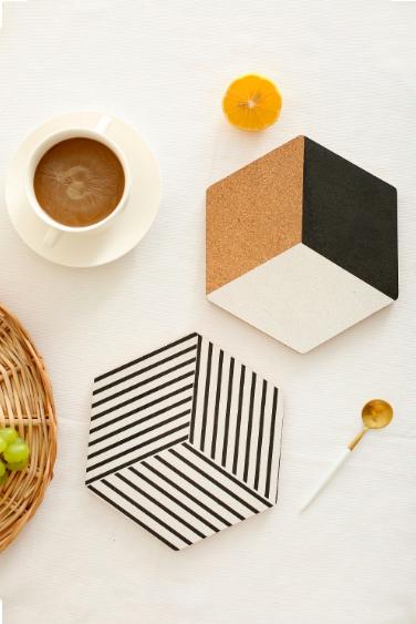 Screen Shot 2019 05 06 at 3.33.43 PM - tabletop-and-bar, drinkware - Nordic Cork Wood Coasters